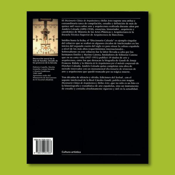 Diccionario clásico de arquitectura y bellas artes - Andres Calzada Echeverría - Ediciones del Serbal