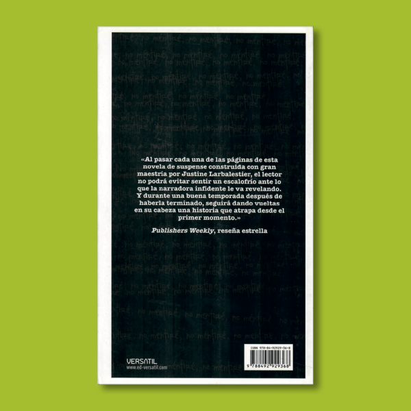Mentirosa - Justine Larbalestier - Ediciones Versatíl