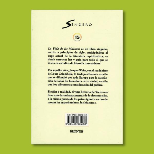 La vida de los maestros - Varios Autores - Ediciones Brontes
