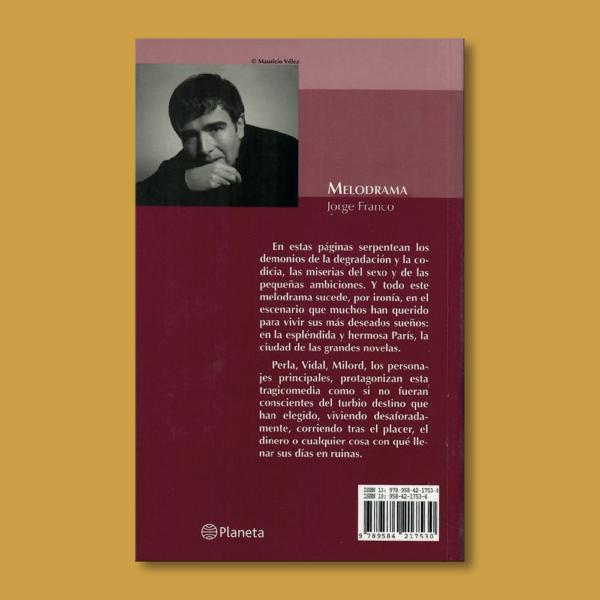 Melodrama - Jorge Franco - Editorial Planeta